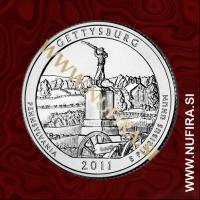 2011 Amerika 06. nacionalni park Gettysburg, 0.25 USD