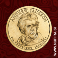 2008 Amerika 07. predsednik Andrew Jackson, 1 USD