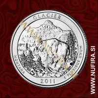 2011 Amerika 07. nacionalni park Glacier, 0.25 USD