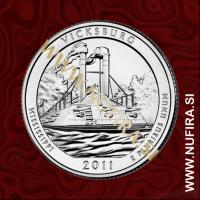 2011 Amerika 09. nacionalni park Vicksburg, 0.25 USD
