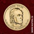 2009 Amerika 10. predsednik John Tyler, 1 USD
