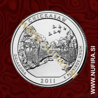 2011 Amerika 10. nacionalni park Chickasaw, 0.25 USD