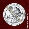 2012 Amerika 11. nacionalni park El Yunque, 0.25 USD