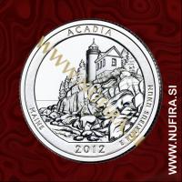 2012 Amerika 13. nacionalni park Arcadia, 0.25 USD