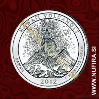 2012 Amerika 14. nacionalni park Hawaii Volcanoes, 0.25 USD
