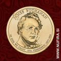 2010 Amerika 15. predsednik James Buchanan, 1 USD