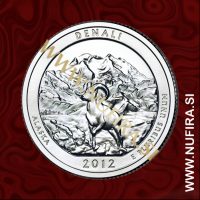 2012 Amerika 15. nacionalni park Denali, 0.25 USD