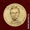 2010 Amerika 16. predsednik Abraham Lincoln, 1 USD