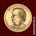 2011 Amerika 17. predsednik Andrew Johnson, 1 USD