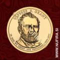 2011 Amerika 18. predsednik Ulysses S. Grant, 1 USD