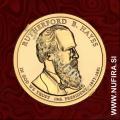 2011 Amerika 19. predsednik Rutherford B. Hayes, 1 USD