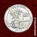 2013 Amerika 19. nacionalni park Fort McHenry, 0.25 USD