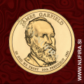 2011 Amerika 20. predsednik James Garfield, 1 USD