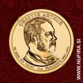 2012 Amerika 21. predsednik Chester Arthur, 1 USD