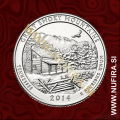 2014 Amerika 21. nacionalni park Great Smoky Mountains, 0.25 USD