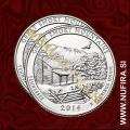 2014 Amerika 21. nacionalni park Great Smoky Mountains (P+D), 0.25 USD