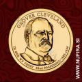 2012 Amerika 22. predsednik Grover Cleveland, 1 USD