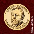 2012 Amerika 23. predsednik Benjamin Harrison, 1 USD