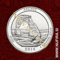 2014 Amerika 23. nacionalni park Arches, 0.25 USD