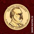 2012 Amerika 24. predsednik Grover Cleveland, 1 USD