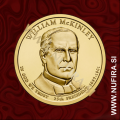 2013 Amerika 25. predsednik William McKinley, 1 USD