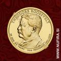 2013 Amerika 26. predsednik Theodore Roosevelt, 1 USD