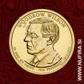 2013 Amerika 28. predsednik Woodrow Wilson, 1 USD