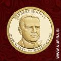 2014 Amerika 31. predsednik Herbert Hoover, 1 USD