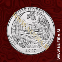 2017 Amerika 38. nacionalni park Ozark Riverways, 0.25 USD