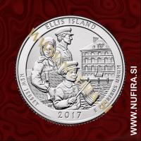 2017 Amerika 39. nacionalni park Ellis Island, 0.25 USD