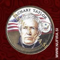 2009 Amerika 12. predsednik Zachary Taylor (barvni), 1 USD