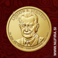 2015 Amerika 36. predsednik Lyndon B. Johnson, 1 USD