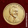 2020 Amerika 41. predsednik George H.W. Bush, 1 USD