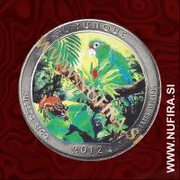 2012 Amerika 11. nacionalni park El Yunque (barvni), 0.25 USD