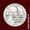 2014 Amerika 25. nacionalni park Everglades, 0.25 USD