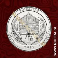 2015 Amerika 26. nacionalni park Homestead, 0.25 USD