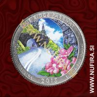 2015 Amerika 28. nacionalni park Blue Ridge (barvni), 0.25 USD