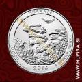 2016 Amerika 31. nacionalni park Shawne, 0.25 USD