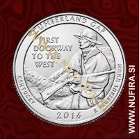 2016 Amerika 32. nacionalni park Cumberland Gap, 0.25 USD