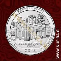 2016 Amerika 33. nacionalni park Harpers Ferry, 0.25 USD