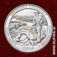 2016 Amerika 34. nacionalni park Theodore Roosevelt, 0.25 USD