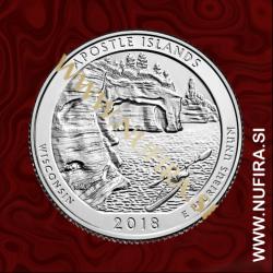 2018 Amerika 42. nacionalni park Apostle Islands, 0.25 USD