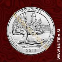 2018 Amerika 43. nacionalni park Voyageurs, 0.25 USD