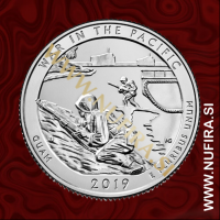 2019 Amerika 48. nacionalni zgodovinski park War in the Pacific, 0.25 USD