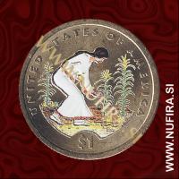 2009 Amerika, Sacagawea (barvni), 1 USD