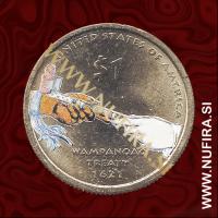 2011 Amerika, Sacagawea (barvni), 1 USD