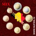 MIX Belgija KMS SET (1c - 2 EUR)