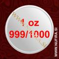 Različni srebrniki 1oz, 999/1000
