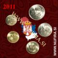 2011 Srbija KMS SET (1 dinar - 20 dinara)