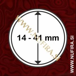 Kapsule za kovance: Ø 14 - Ø 41 mm (1x)